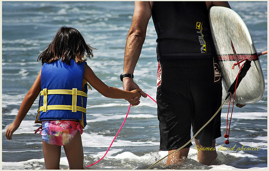 Surf Series:  Dad and Daughter