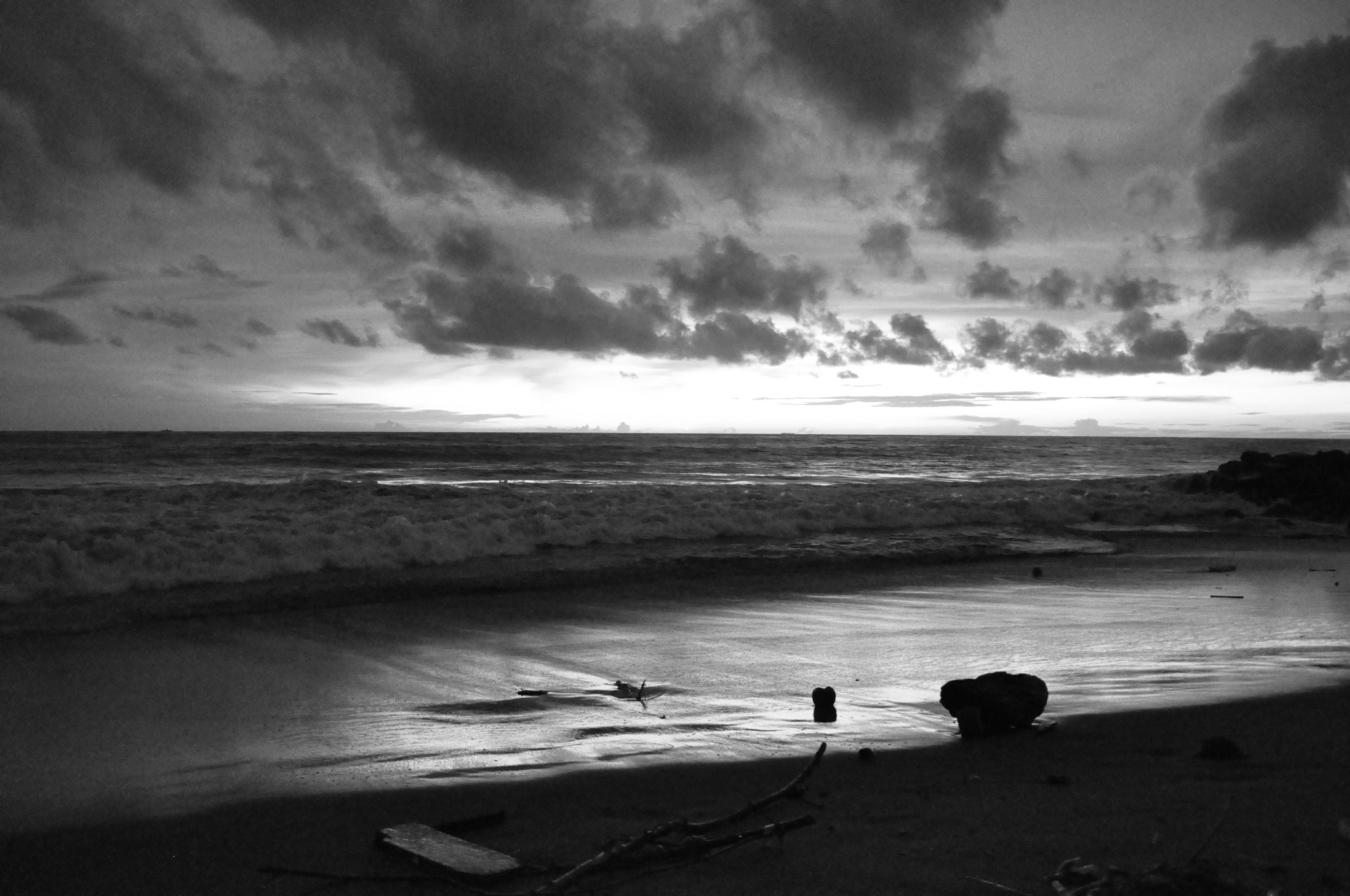 Photograph sunset in black and white by Welhelmus Dengi on 500px