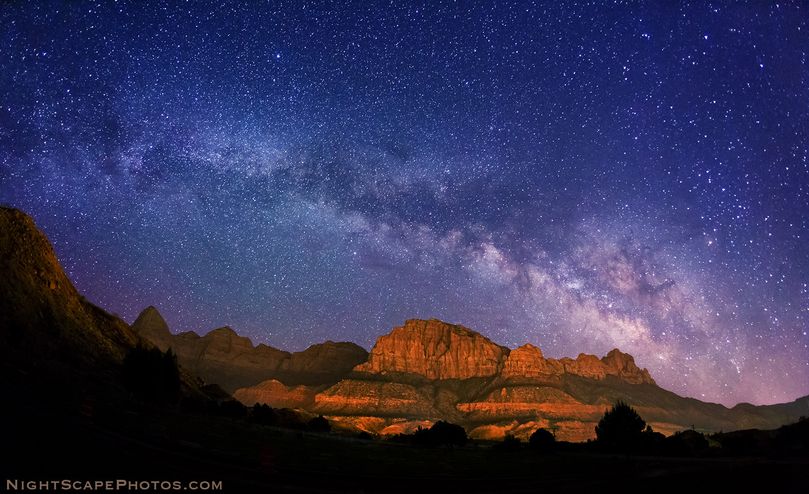 Photograph Milky Way over Zions by Royce's NightScapes on 500px
