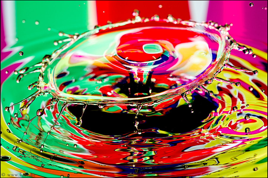 Colourful splash.