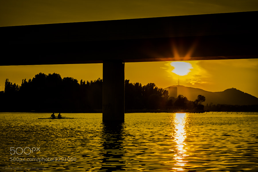 Photograph sunset below the bridge by Andy Butkaj on 500px