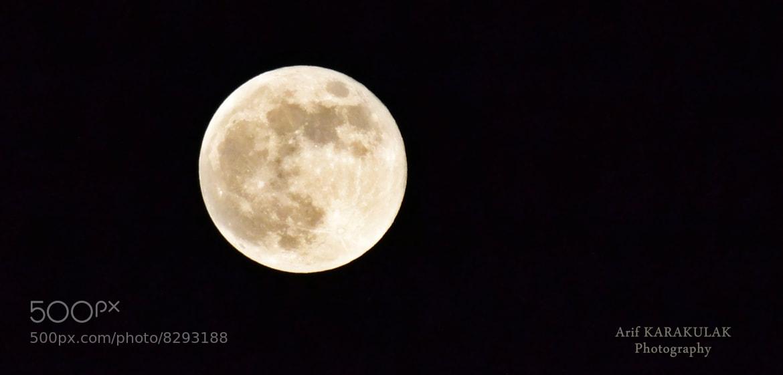 Photograph moon by Arif Karakulak on 500px