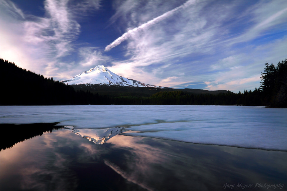 Photograph Trillium Lake on Ice by Gary Meyers on 500px