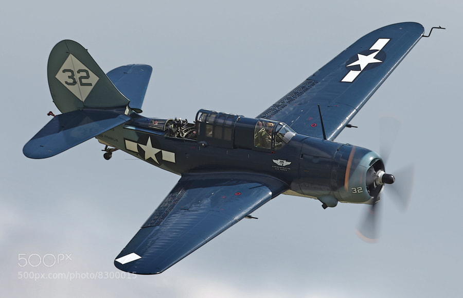 This image depicts the sole surviving airworthy Curtiss Helldiver in the world.