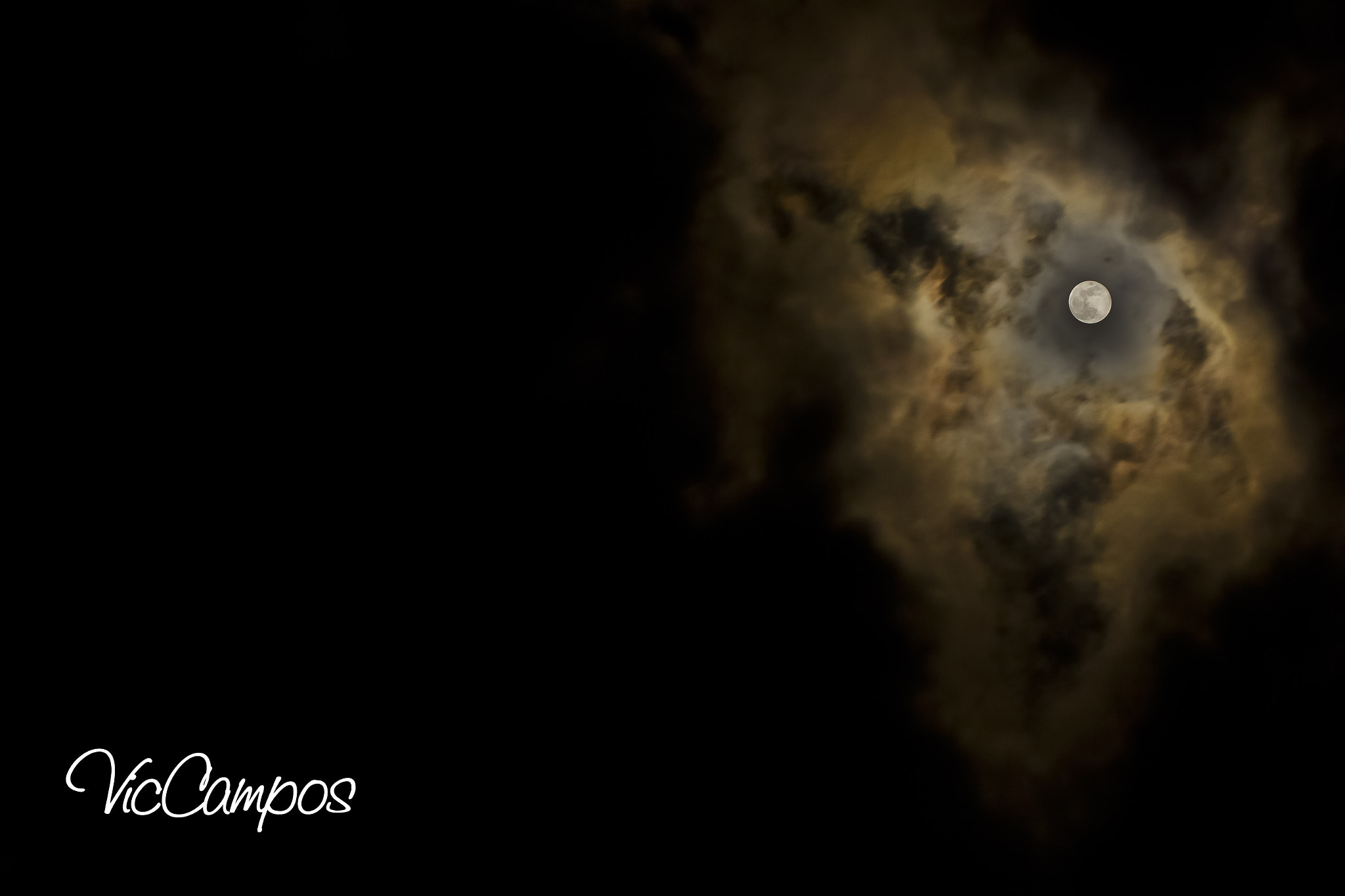 Photograph Galaxy Moon by Victor Campos on 500px