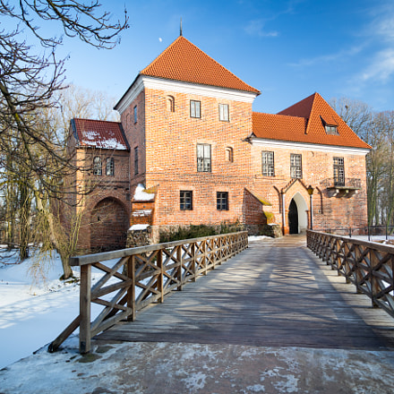 Gothic castle in Oporow, Poland