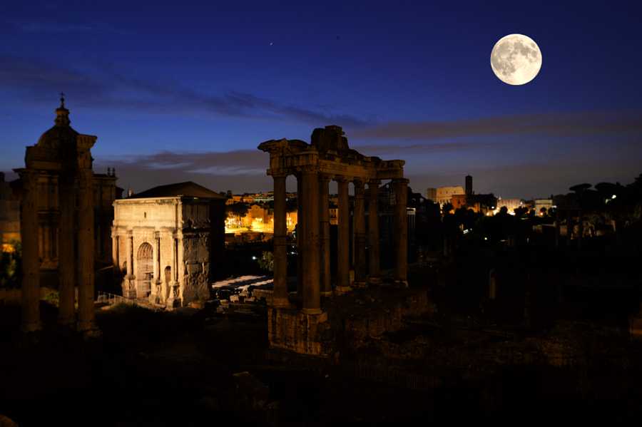 Was burning like a silver flame. The roman forum by Angelo Ferraris on 500px.com