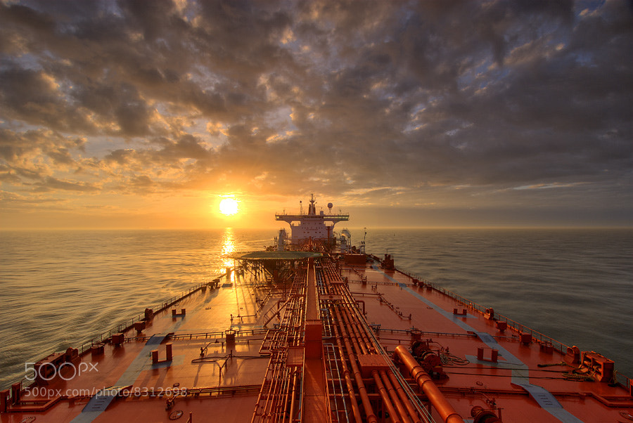 Photograph Tanker Sunrise by Lou Vest on 500px
