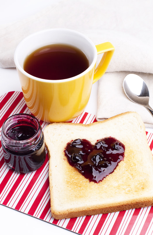 Photograph Golden toast with heart shaped currant jam  by Elena Rakhuba on 500px