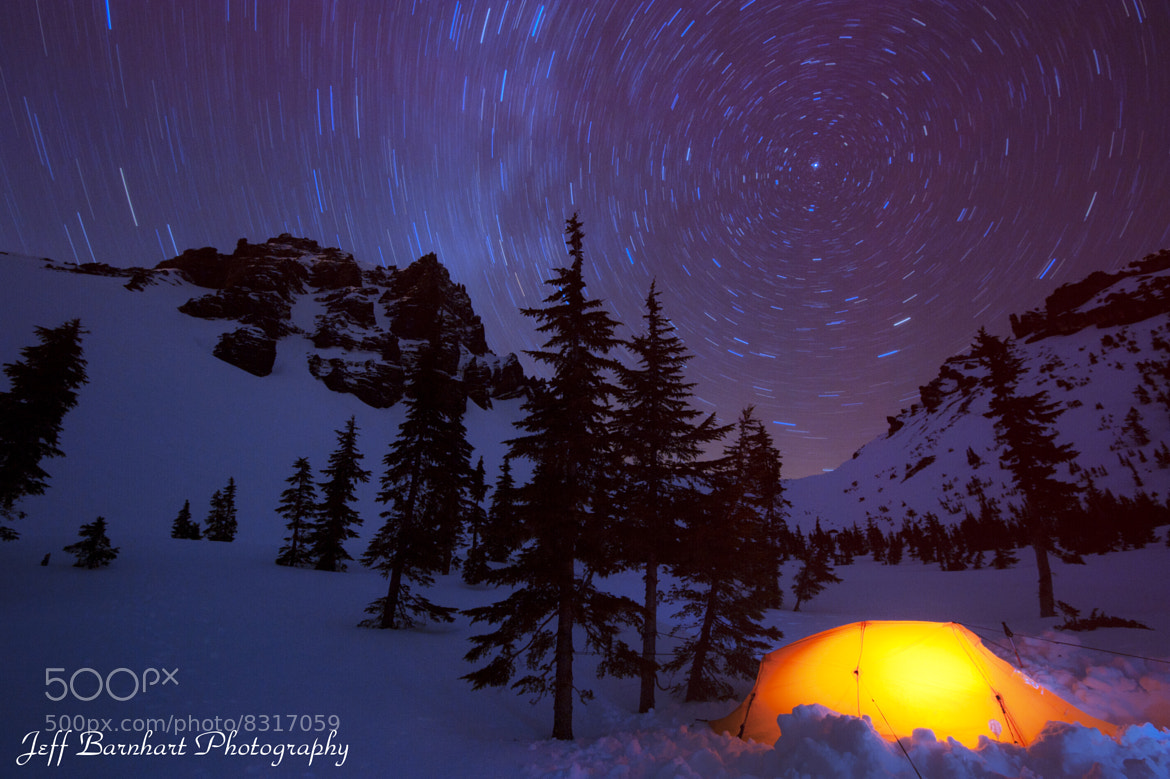 Photograph Three Fingered Jack: Star Trails by Jeff Barnhart on 500px