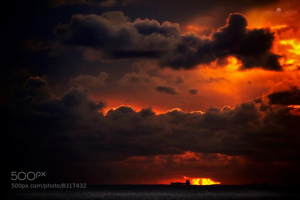 Photograph Dark Clouds & Ship by Lars van de Goor on 500px