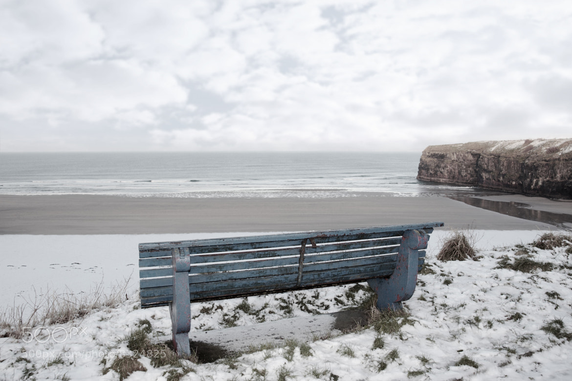 Photograph atlantic winter bench view of cliffs by David Morrison on 500px