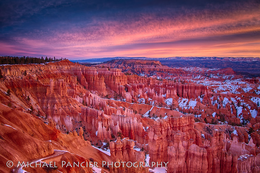 Dawn on a cold winter morning in Bryce
