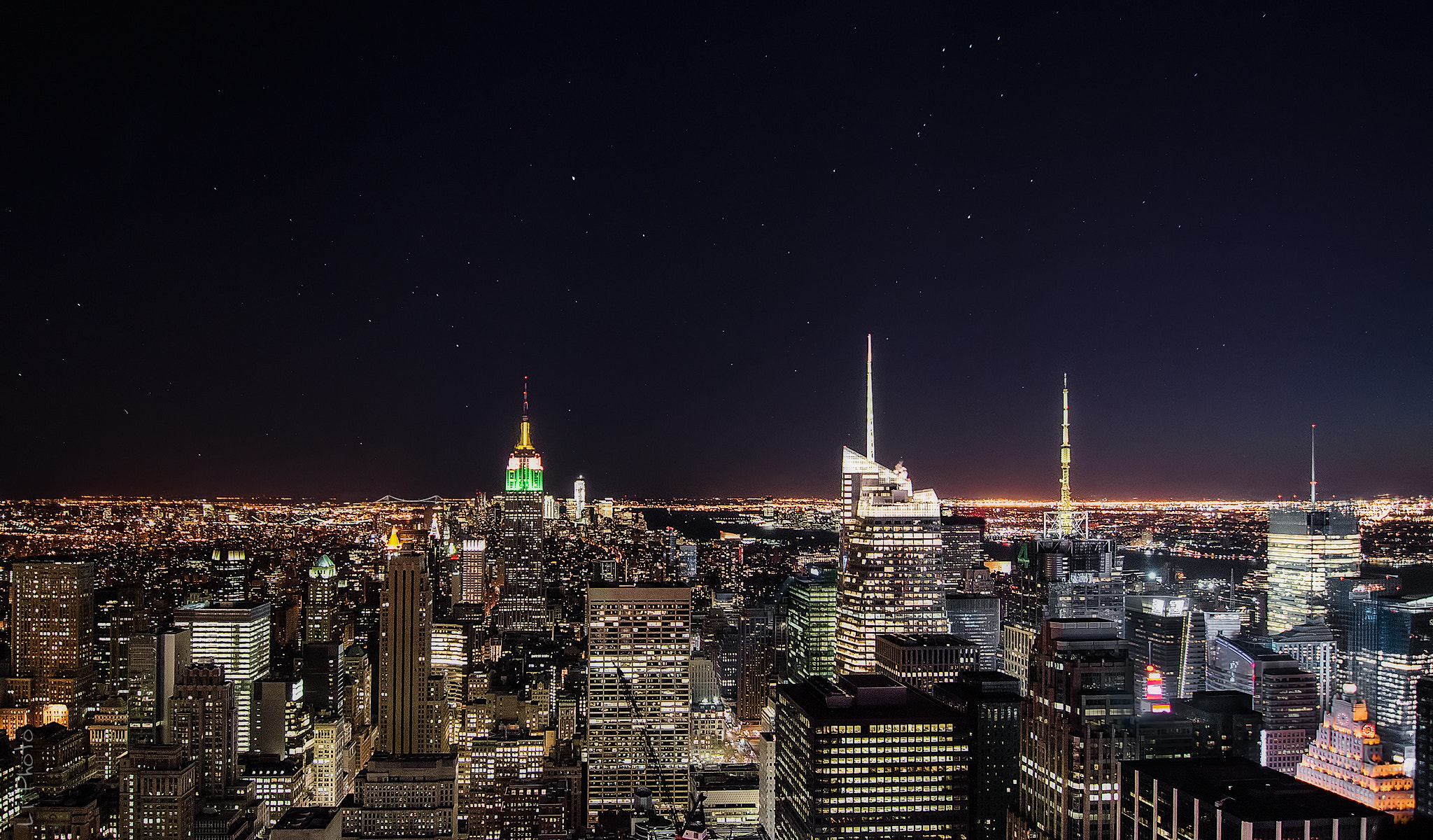Photograph Stars over Manhattan by Javier de la Torre on 500px
