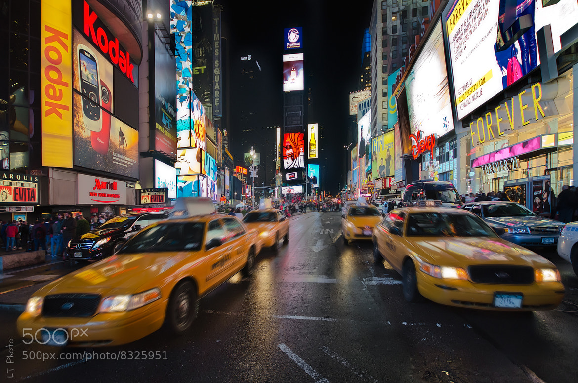 Photograph Times Square at Night by Javier de la Torre on 500px