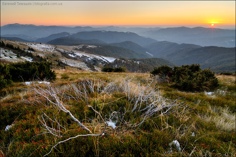 Photograph Sunset in Carpathian Mountains by Yevgen Timashov on 500px