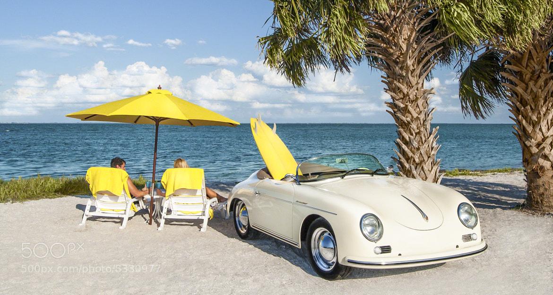 Photograph 1958 Porsche on the Beach by Chuck Vosburgh on 500px