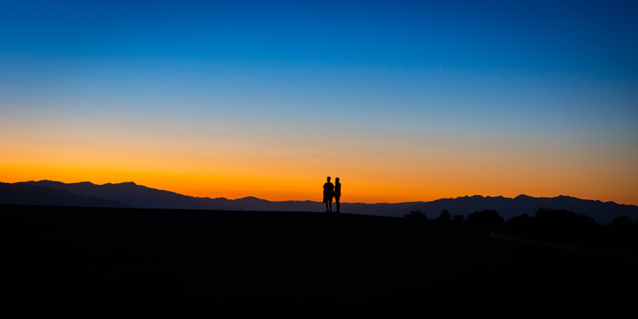 Sunset in the Death Valley