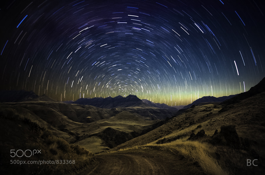 This is an old one. I think.. 3 yrs ago? This piece became somewhat of an inspiration to see what I could make in a single frame, rather than a composite. This is a 2 frame composite.   Foreground is Imnaha River Canyon, stars from over Sister's area
