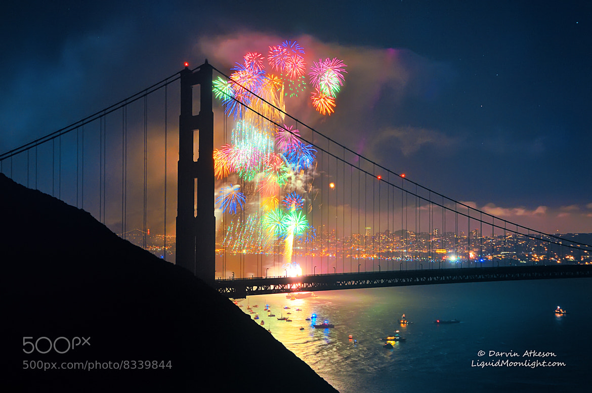 Photograph Rainbow of Fire - Golden Gate Bridge 75th Anniversary by Darvin Atkeson on 500px