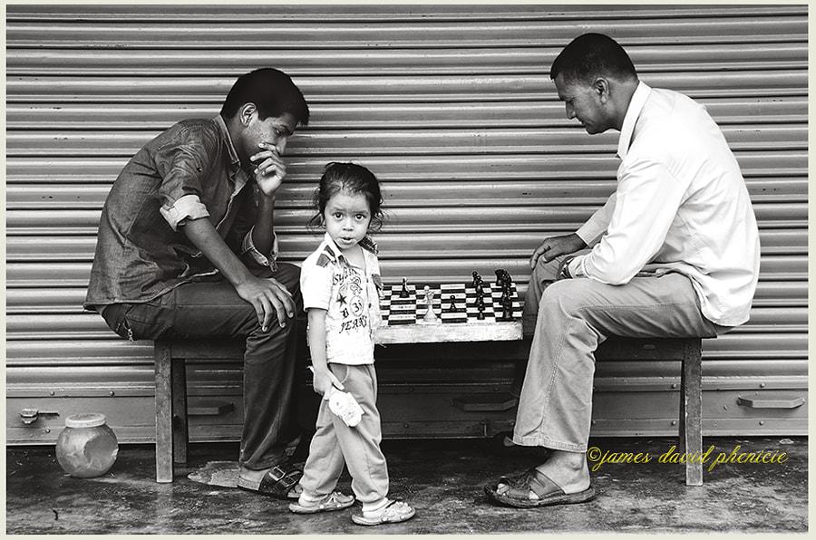 Nepal Series:  Chess Players