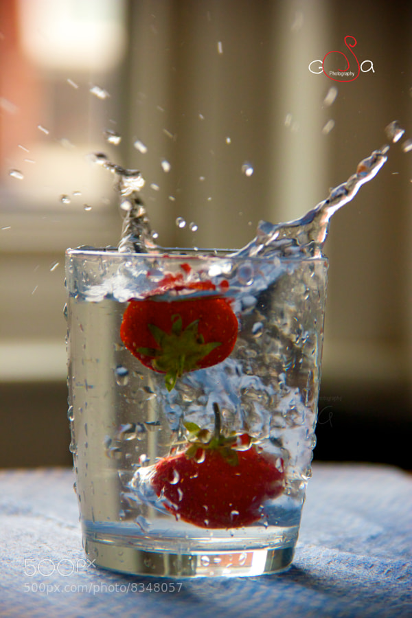Strawberry splash by Chitra Sivasankar  (ChitraSivasankar)) on 500px.com