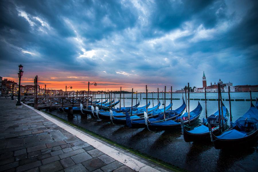 The gondollas of Venise