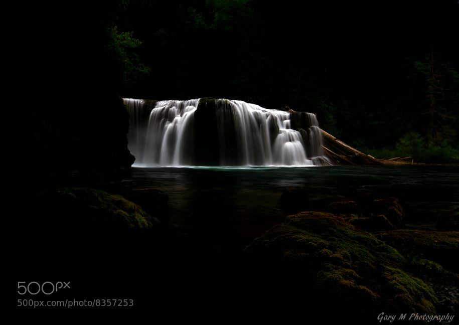 Photograph Lower Lewis River Falls ~ The Dark Side ~ by Gary Meyers on 500px