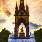 Постер, плакат: Albert Memorial at Sundown
