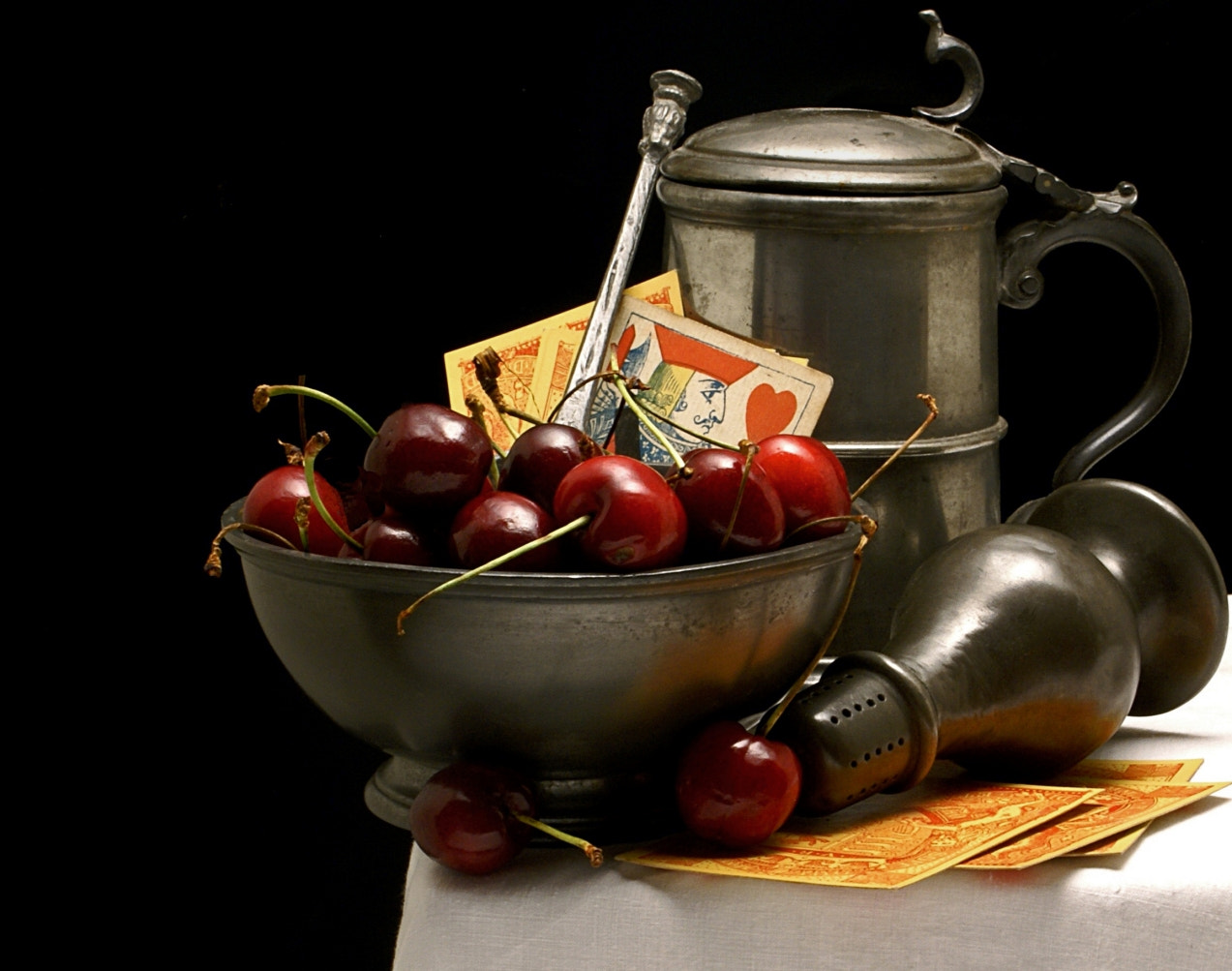 Photograph Cherries and Pewter by Jack Hardin on 500px