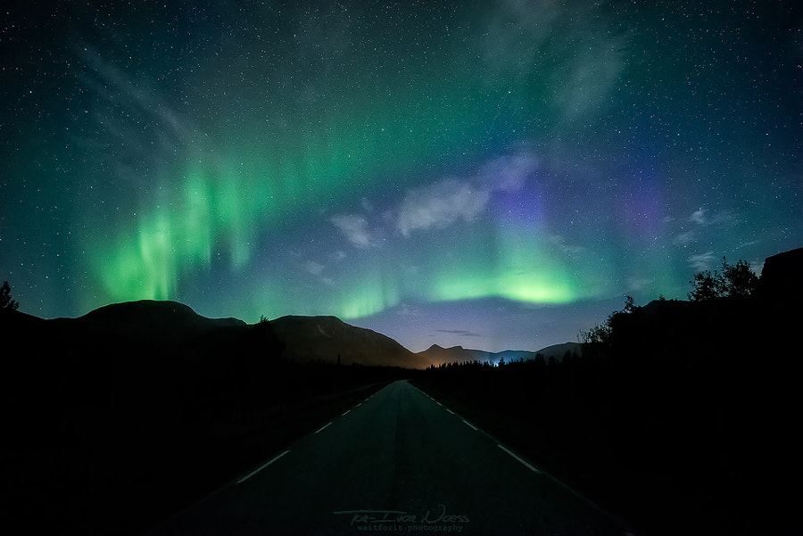 Green Lights Blurring The Darkness by Tor-Ivar Næss on 500px.com