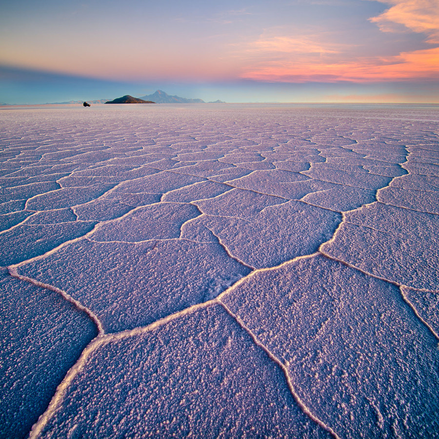 Photograph Salar de Uyuni hexagons at sunset, Bolivia, March 2014 by Ignacio Palacios on 500px