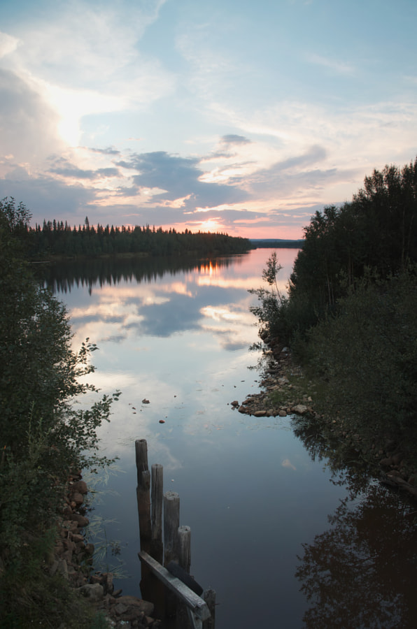 Sunset over the Ivalo river