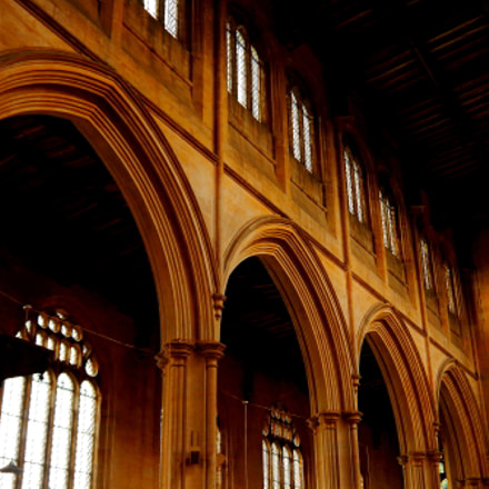 Tattershall church arches