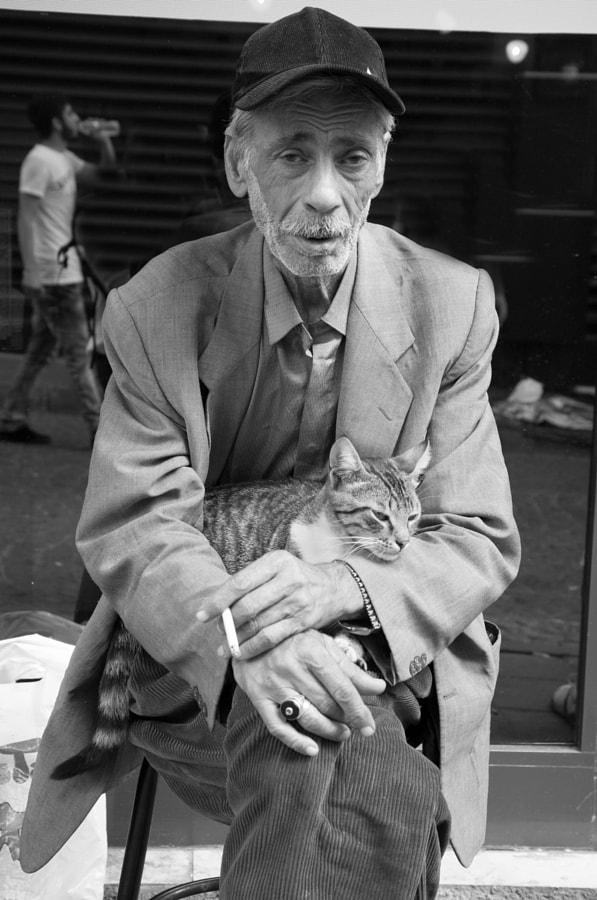 The man and his cat