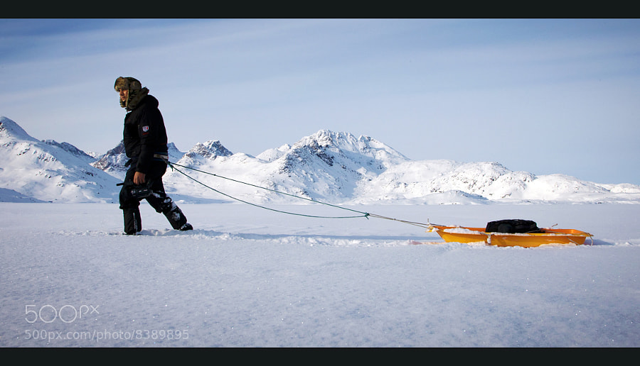 Me on the Kong Oskar Havn in Ammassalik (Greenland) during the inspection of the location where in March 2013 will be shot my documentary film. You can watch the trailer of the first images at the link: http://youtu.be/nBJ7NEY1RHk