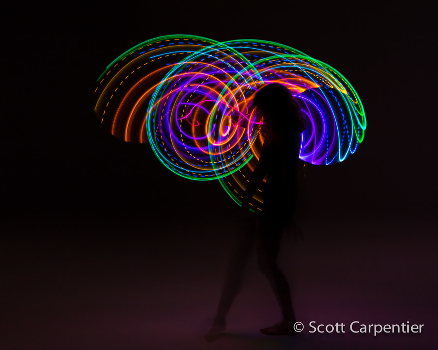 Photograph Hula Hoop Light Painting by Scott Carpentier on 500px