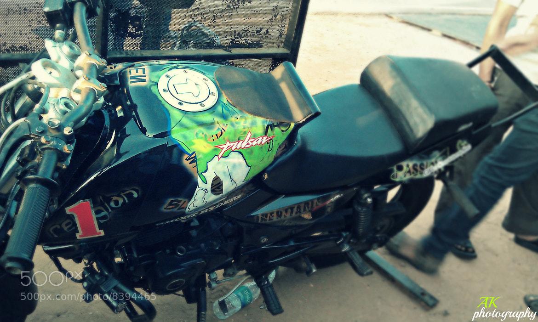 Photograph GRZ's bike by Akash Rathi on 500px