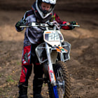 Постер, плакат: Breakdown at junior motorcross championships So sad :
