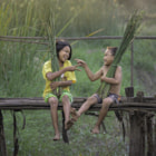 Постер, плакат: Happiness of Thai children