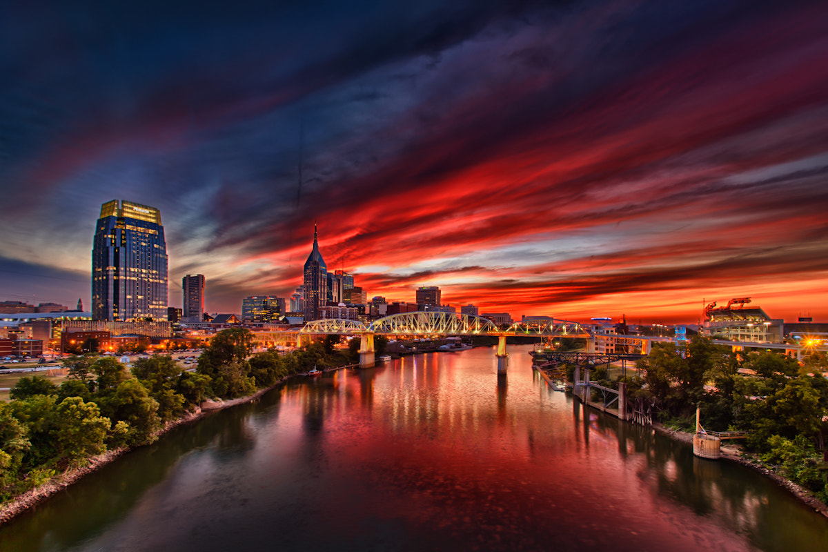 Photograph Sunset Over CMA Festival by Warne Riker on 500px