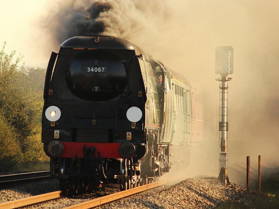 34067 'Tangmere' at Mud Lane
