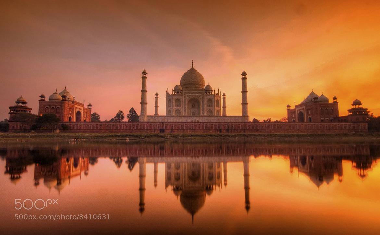 Photograph The Taj Mahal at Sunset by Debashis Talukdar on 500px