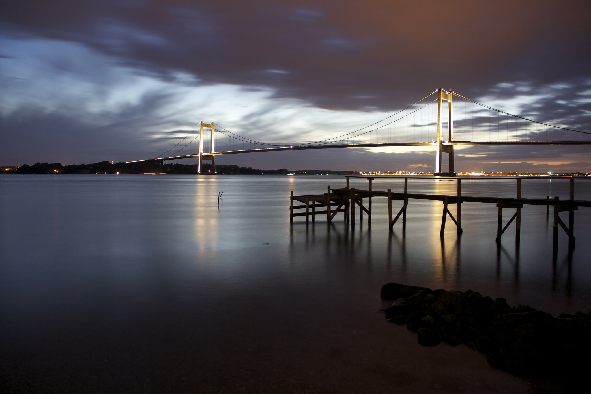 Photograph Bridge at midnight by Ulrik  Dueholm on 500px