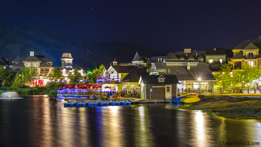Blue Mountain Village at night