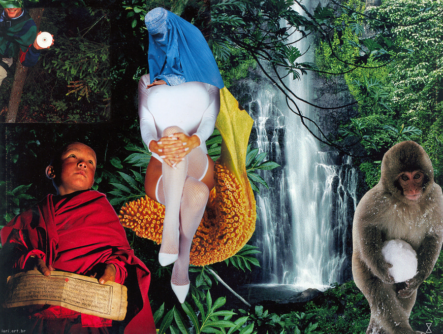 Analog Collage by iuri kothe, made on 060408, size: 25.5x34 cm. This one was made mostly on 01/20/20
