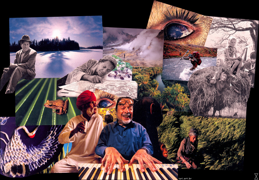 Analog Collage by iuri. Size: 43x31 cm. Date: 2005/Jun/29. Some photos are from Jim Brandenburg.