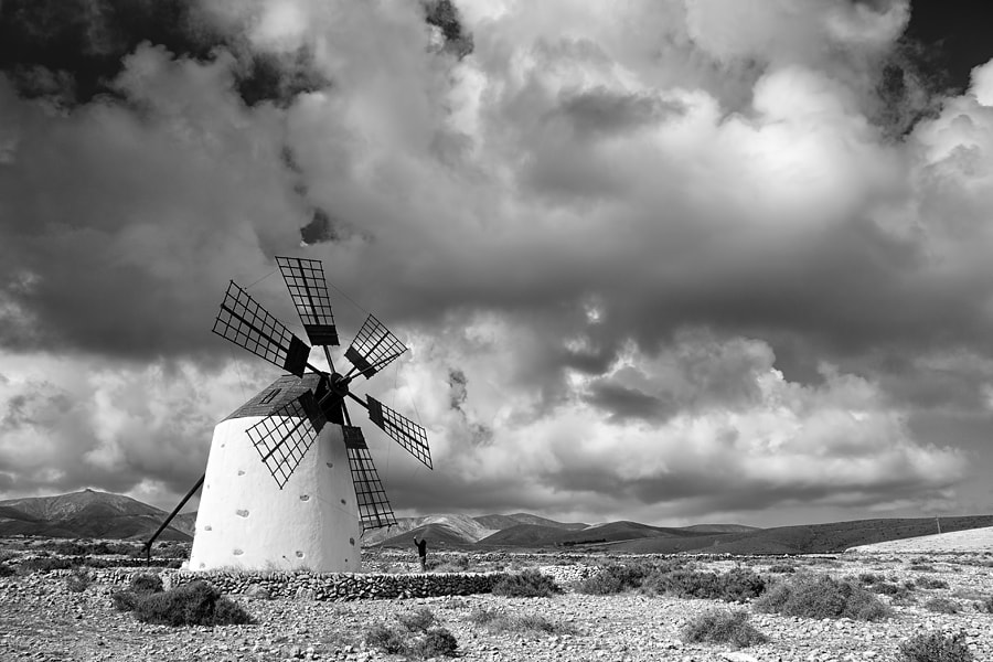 Photograph Windmill and clouds by Juan Antonio Santana on 500px