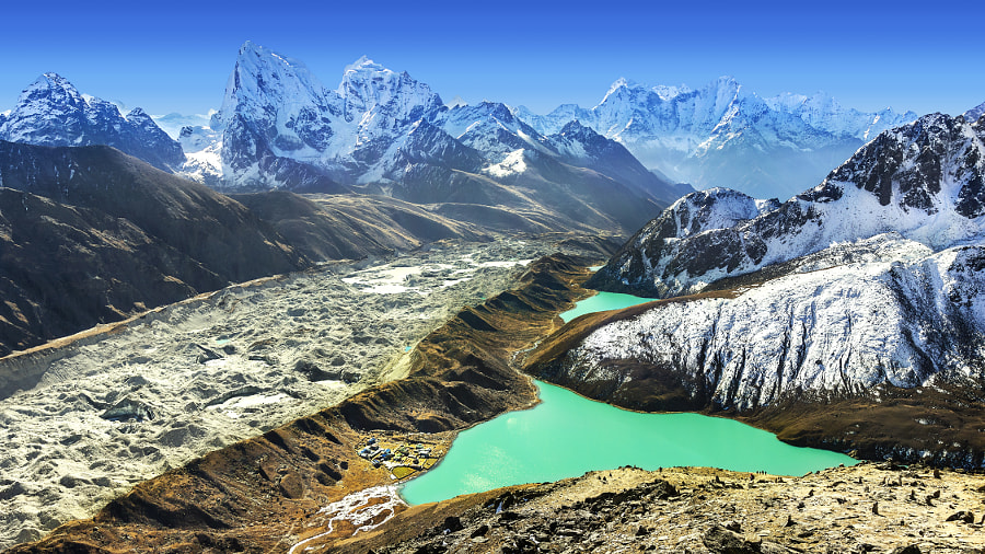 Beautiful view from Gokyo Ri, Everest region, Nepal by Maciej Bledowski on 500px.com