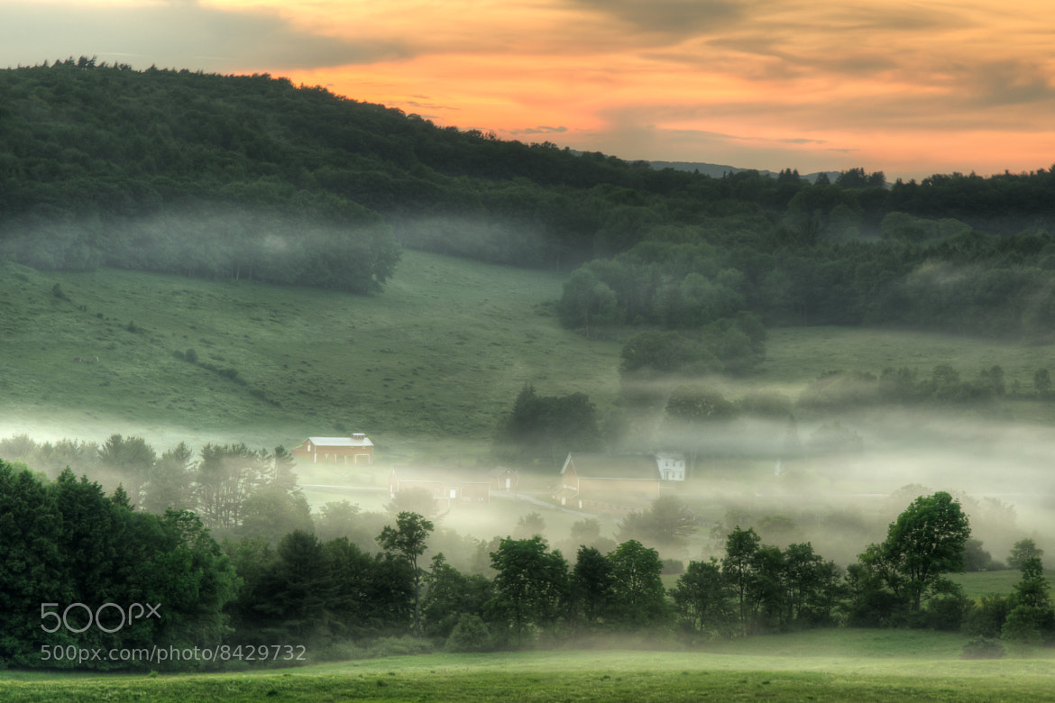 Photograph Sunset Over the Foggy Rolling Hills by Stephen Puliafico on 500px